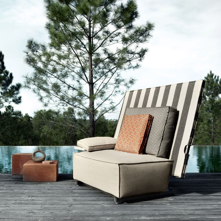 Philippe Starck creates outdoor furniture that folds in half to ward off rain