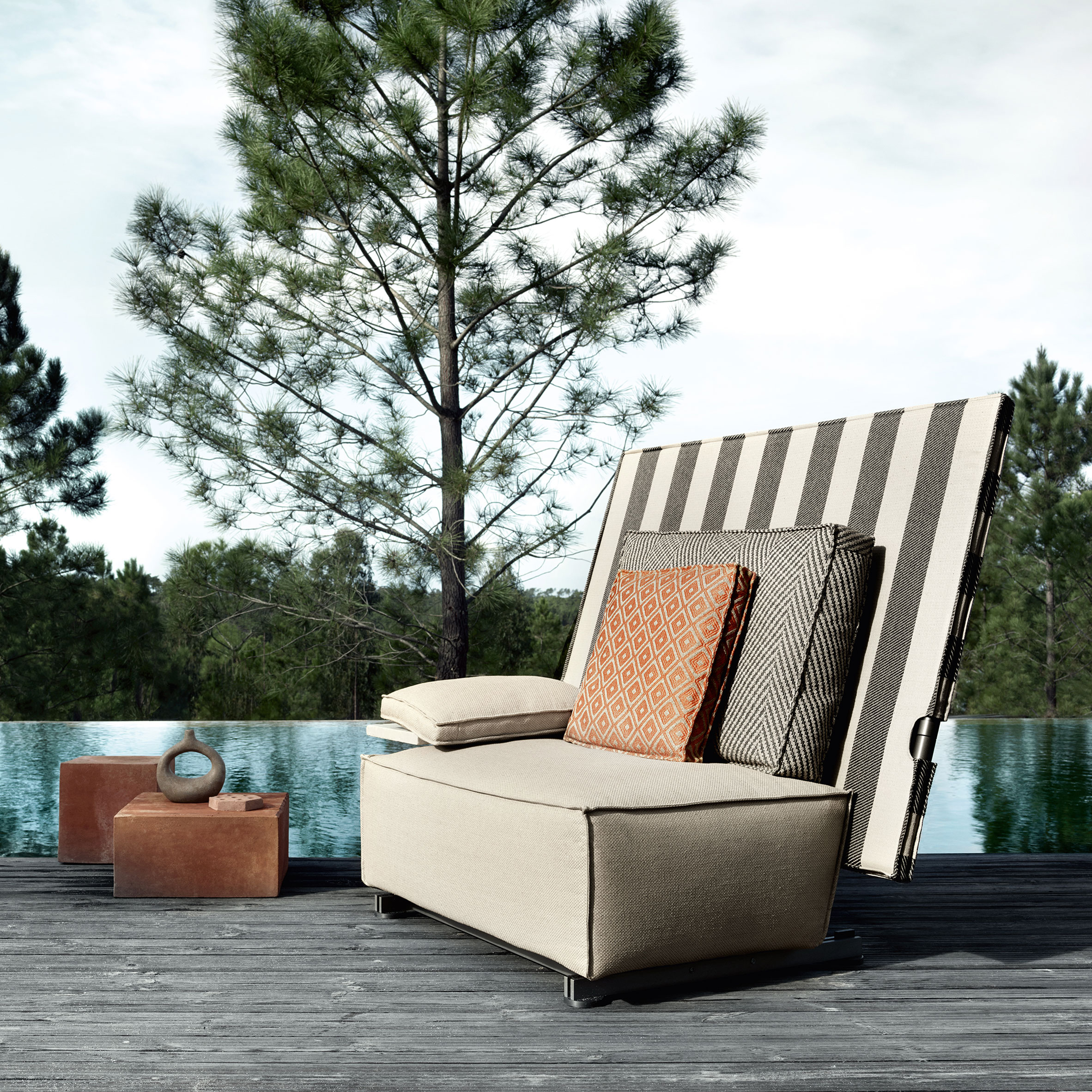 Oh It Rains Outdoor Furniture By Philippe Starck Folds In Half To Ward Off Rain