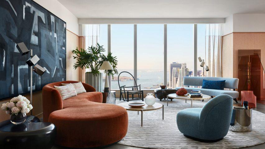 One Manhattan Square Apartment By Jamie Bush Features Sculptural Decor