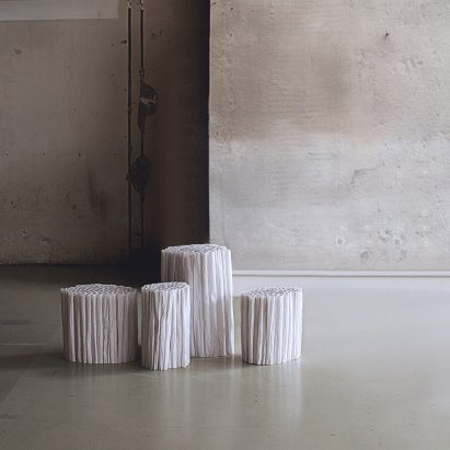Pao Hui Kao makes Paper Pleats furniture collection from tracing paper