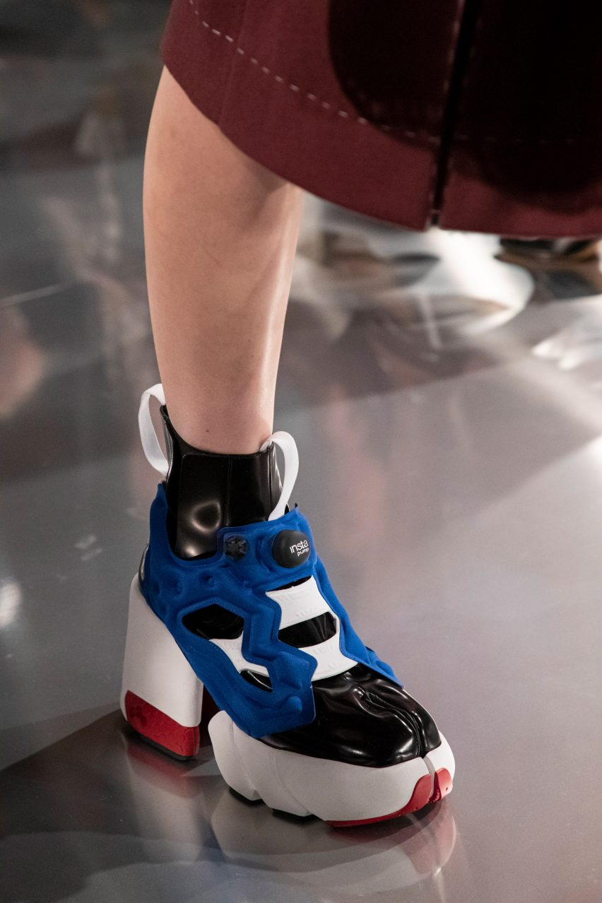 Maison Margiela and Reebok design split-toe sneakers for the digital age