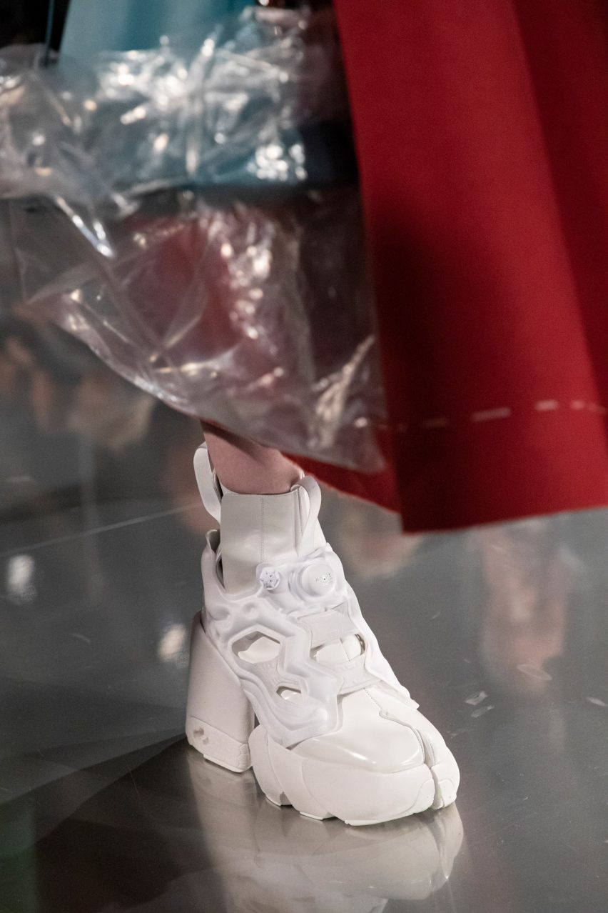 Maison Margiela and Reebok design split-toe sneakers for the digital age