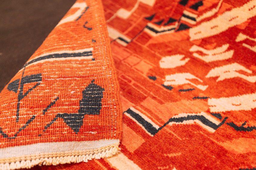 Kourosh Asgar-Irani uses parametric software to distort traditional Persian rug patterns