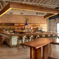 Studio Love is Enough designs Japanese restaurant inside MINI creative hub A/D/O