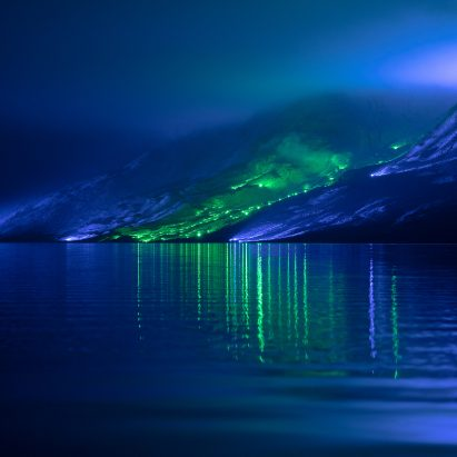Kari Kola illuminates Irish mountainside with 1,000 lights