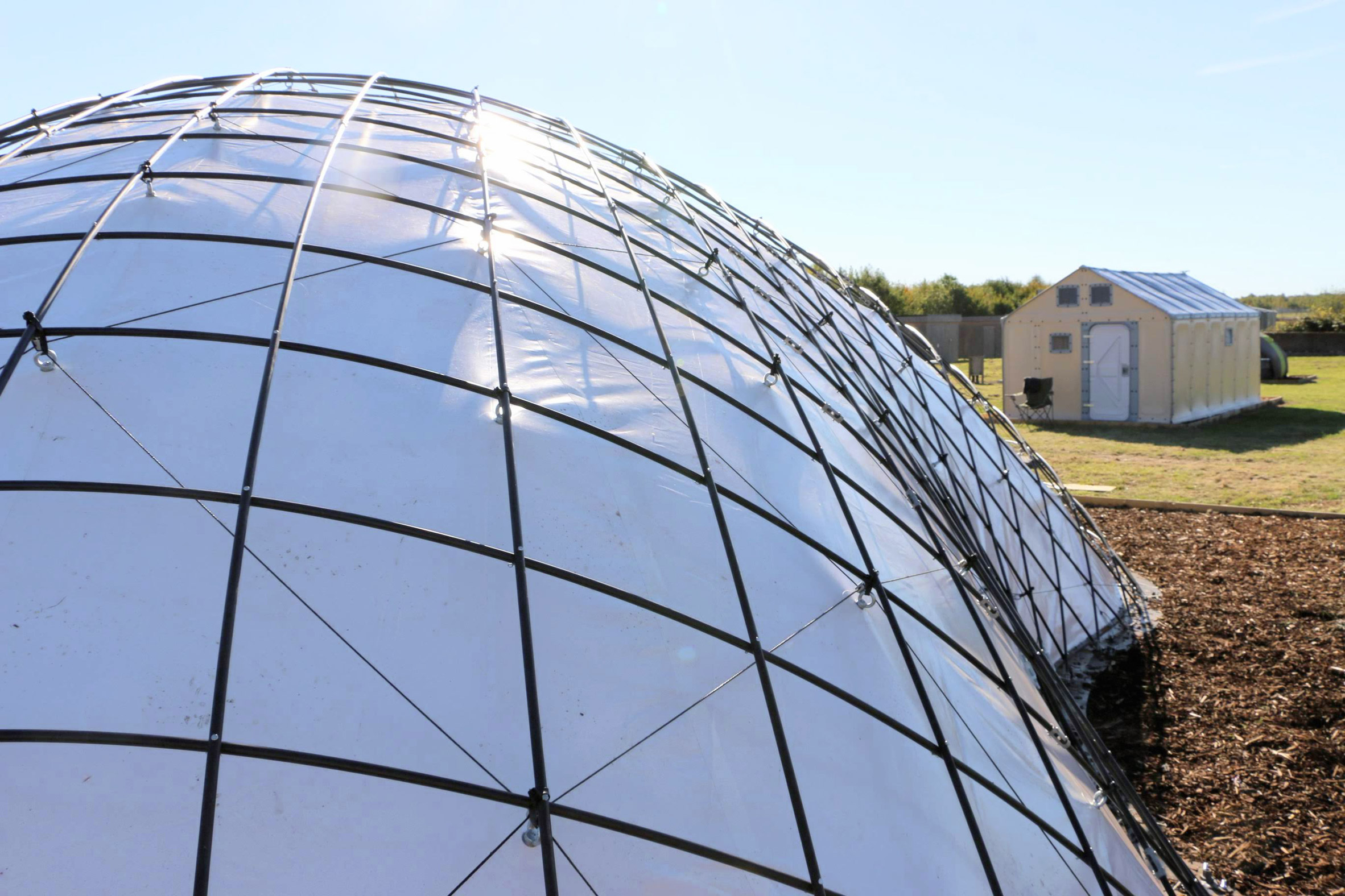 SheltAir gridshell can be inflated in 8 hours to isolate coronavirus patients