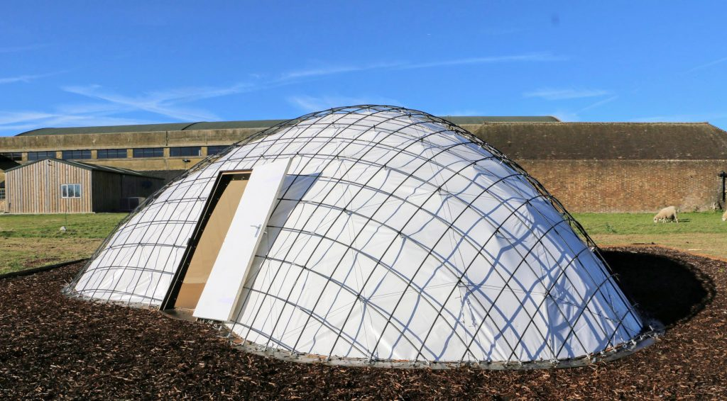 SheltAir gridshell pods can be inflated in 8 hours to isolate coronavirus patients
