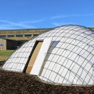 SheltAir gridshell pods inflate in eight hours to isolate coronavirus patients