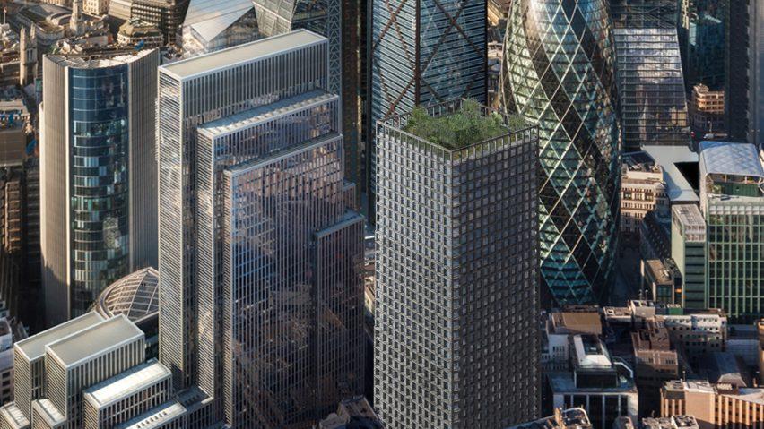 Stone skyscraper by Amin Taha's studio Groupwork and Webb Yates