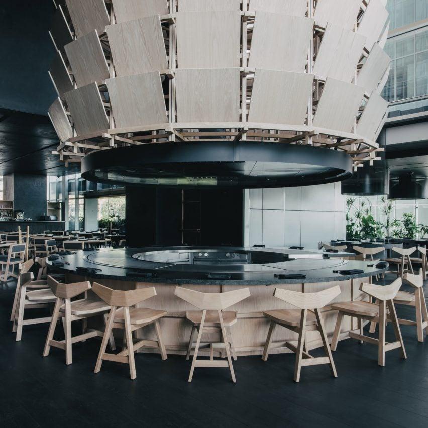 Samurai armour and Kanji characters inform Mexico City's Tori Tori restaurant by Esrawe Studio
