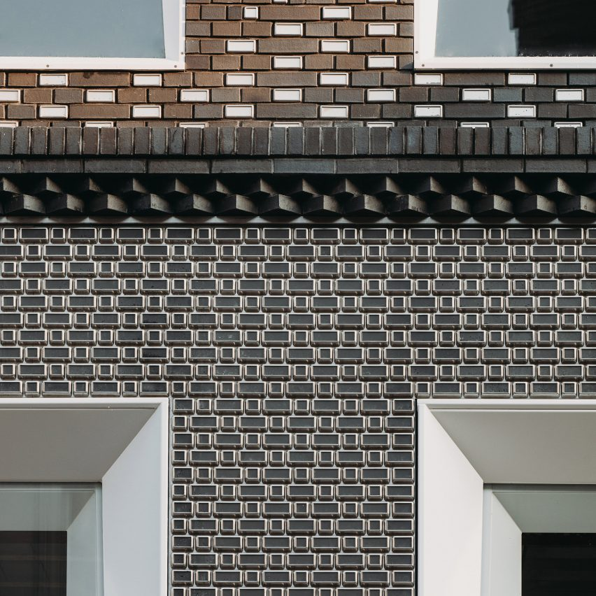 UNStudio creates pixelated facade for Louis Vuitton store from glass and steel bricks