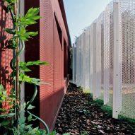 Urban Cabin by Francesca Perani perforated metal facade