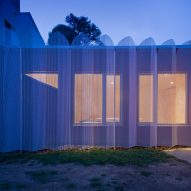 Urban Cabin by Francesca Perani perforated metal facade