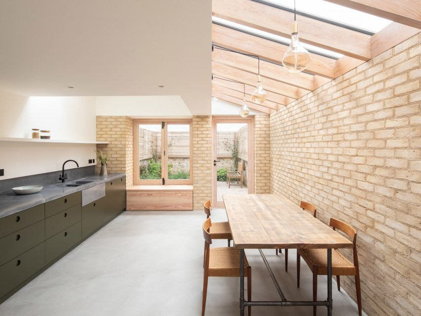 Vestry Road house extension by Oliver Leech Architects new kitchen