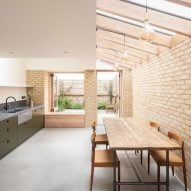 Oliver Leech Architects uses soft colours to create bright and airy kitchen extension