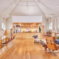 A/L Studio updates home in former Rhode Island meeting hall