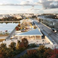OMA reveals updated design for Washington DC garden bridge