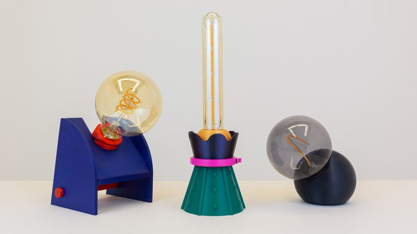 Hola Studio 3D-printed lamps for VDF x Ventura Projects