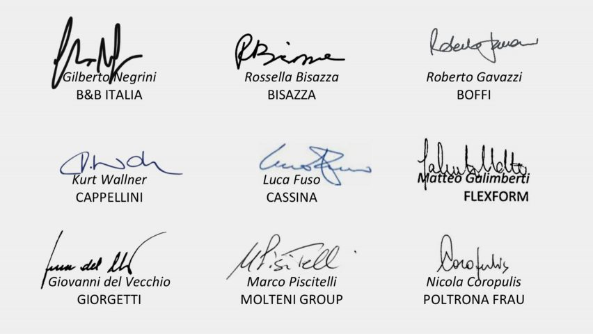Italian design brands sign manifesto warning of economic catastrophe