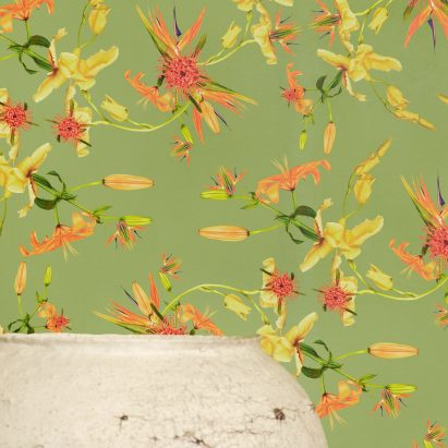 Paradise pattern features in Superflower's Florescence wallpaper collection