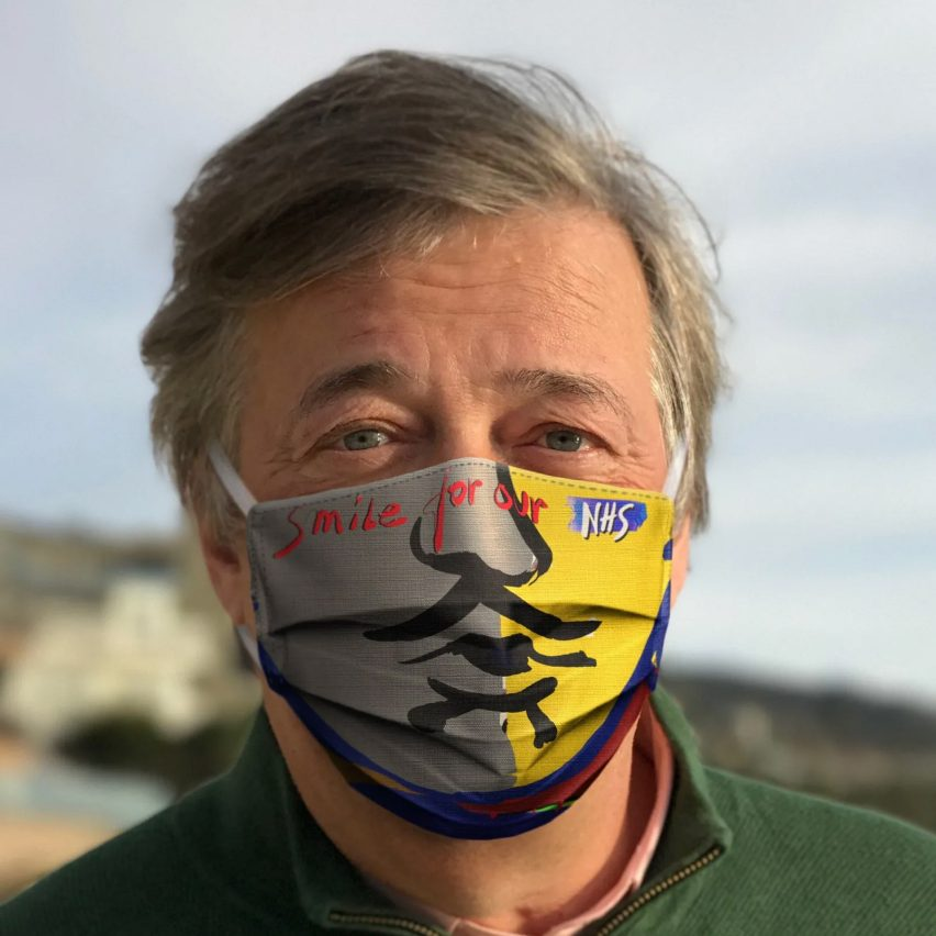 Ron Arad Smile for Our NHS masks