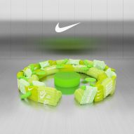 Crosby Studios designs virtual sofa upholstered with green Nike jackets