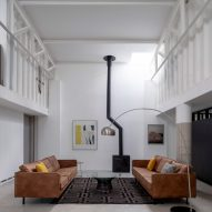 Avenue Road warehouse conversion by Clancy Moore Architects atrium