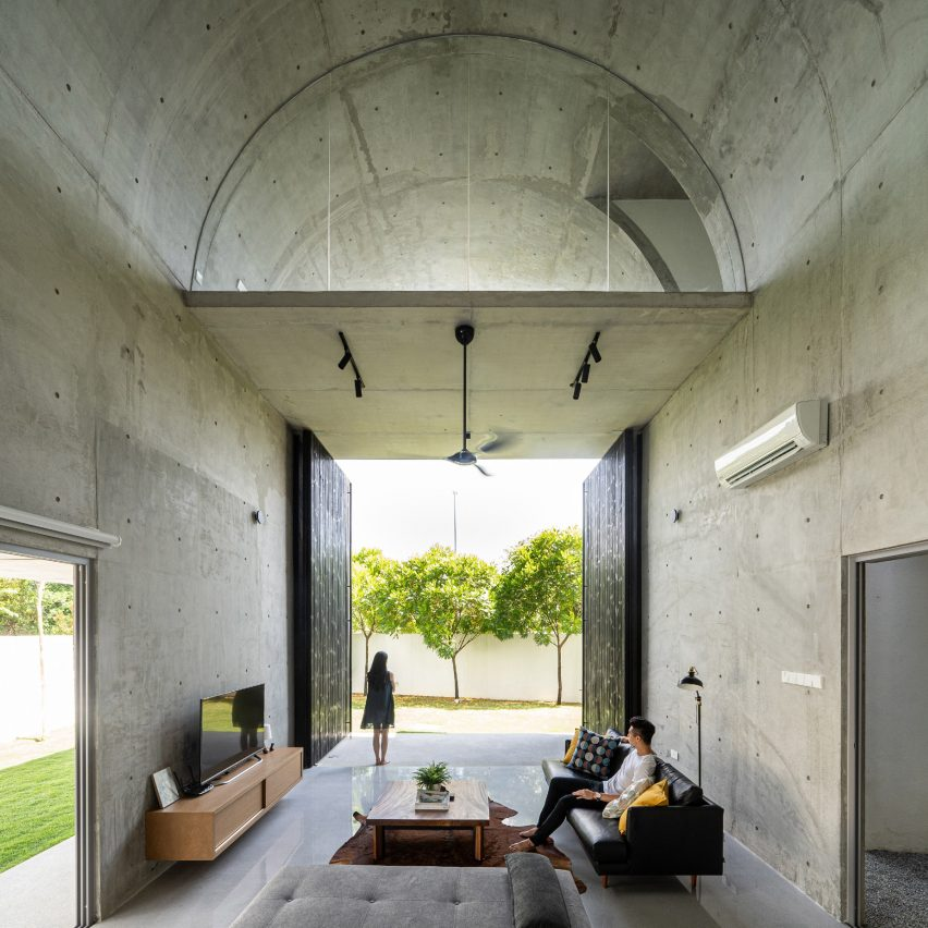 Bewboc House by Fabian Tan barrel-vaulted interior