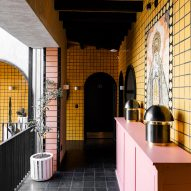 Colourful tiles and Mexican craft feature in Casa Hoyos hotel by AG Studio