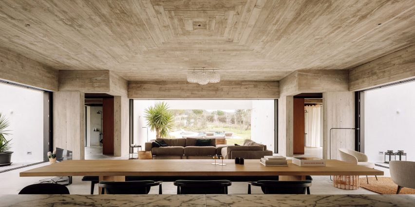Casa Meco In Portugal Centres Around Triple Perspective Living Room