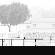 Caselas school by Site Specific Arquitectura section