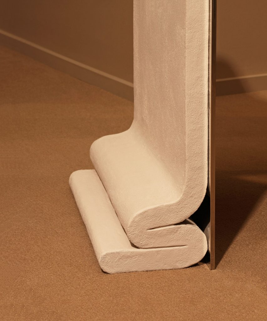 Concrete Melt Chair by Bower Studios