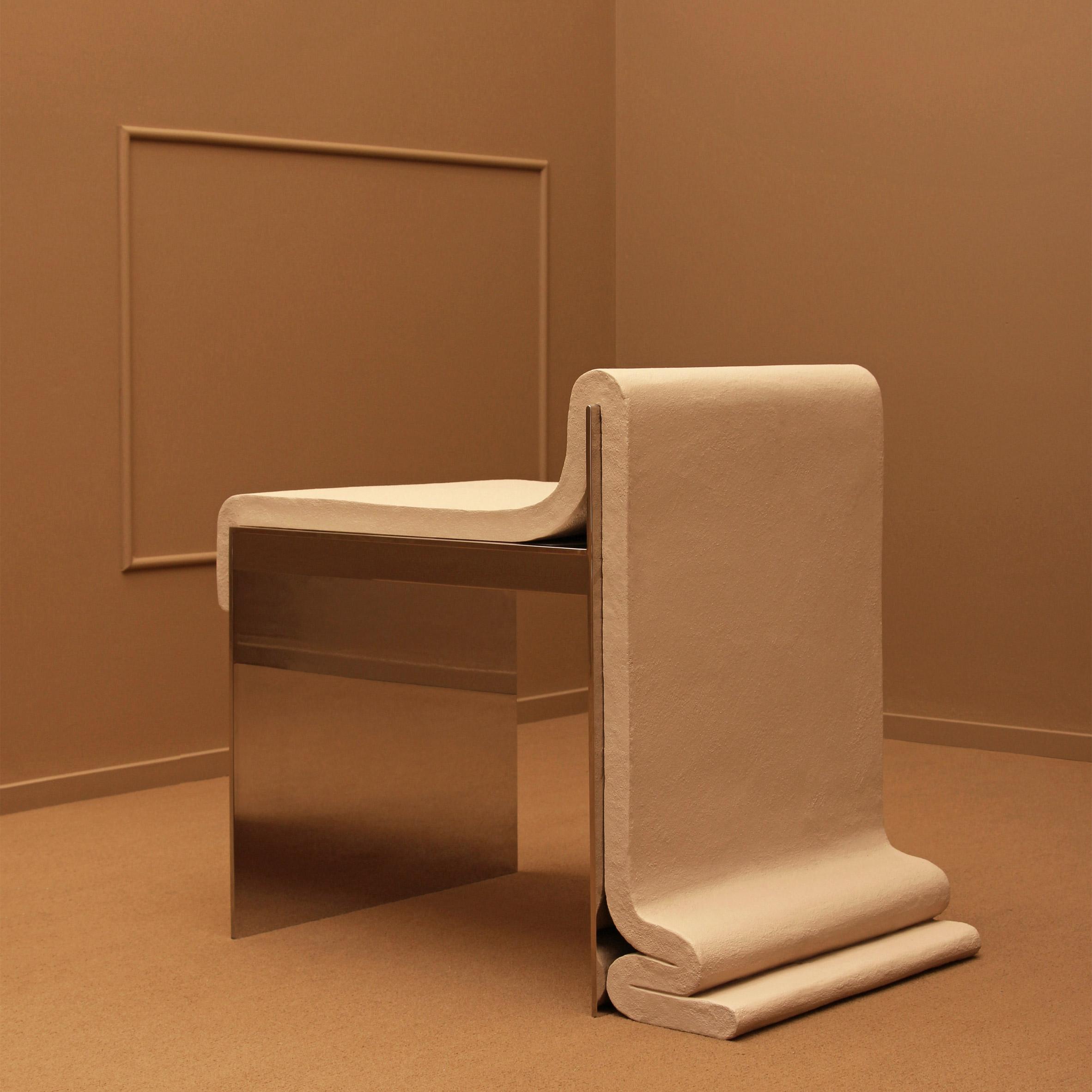 Concrete Melt Chair by Bower Studios