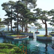 "Marshall Blecher and Studio Fokstrot to build ""parkipelago"" of floating islands in Copenhagen"