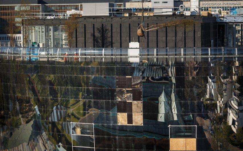 Depot Boijmans Van Beuningen by MVRDV mirrored facade
