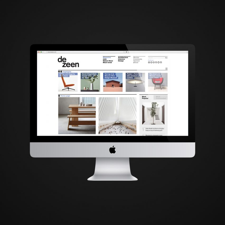 Dezeen soars to become one of the top 3,500 websites in the world