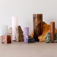 "Studio EO's marble and glass Drill Vases are ""part chaos and part control"""