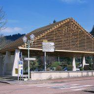 Lamure-Sur-Azergues covered market by Elisabeth Polzella