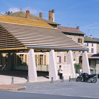 Lamure-Sur-Azergues covered market by Elisabeth Polzella
