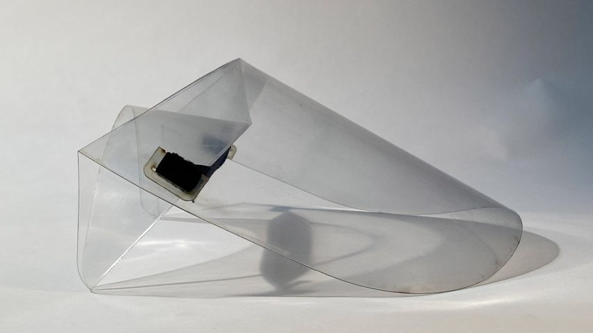 Origami face shield by the University of Cambridge's Centre for Natural Material Innovation and University of Queensland's Folded Structures Lab