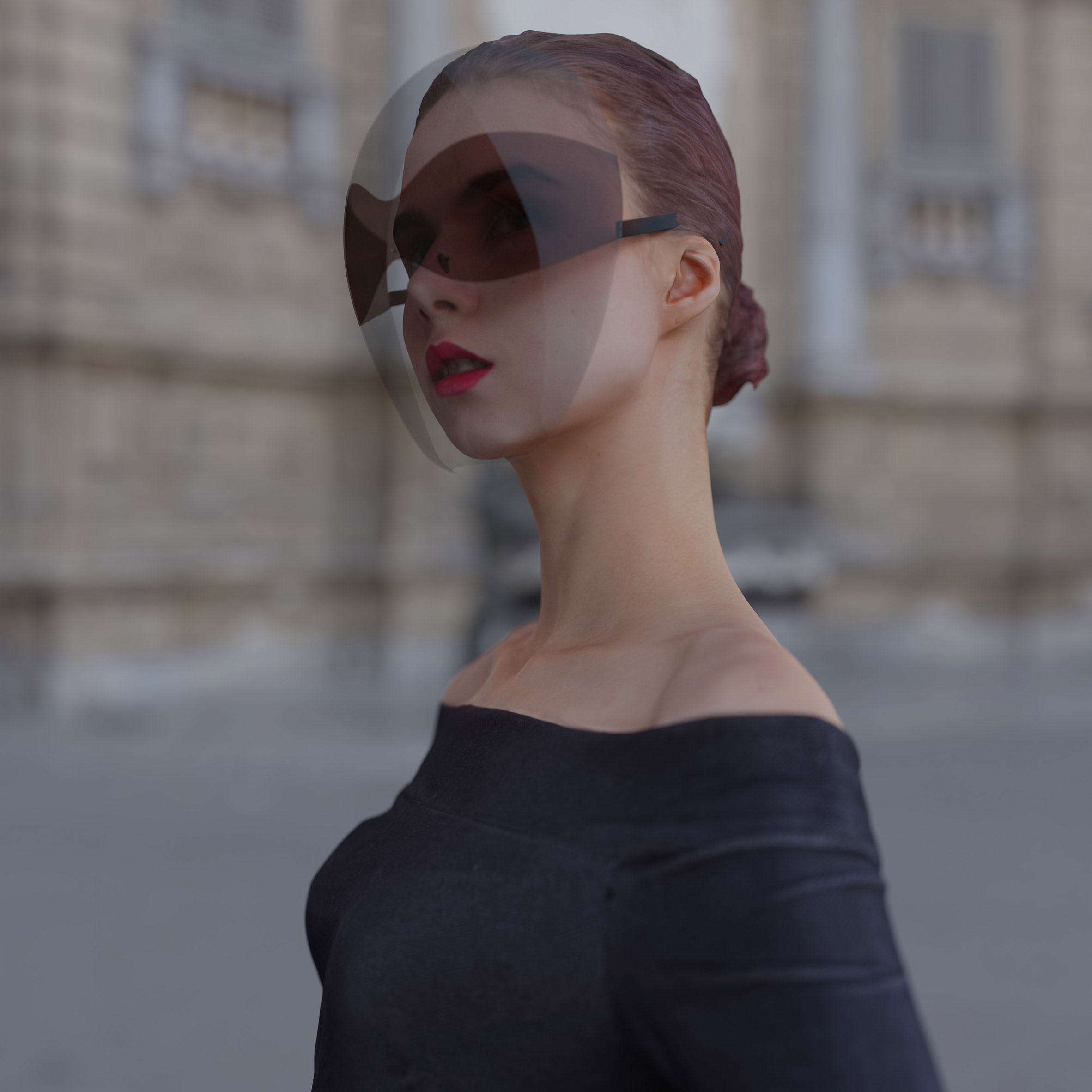 Joe Doucet Designs Face Shield To Be A Fashion Accessory