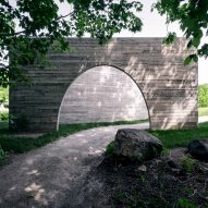 Luca Fortin constructs concrete passageway for Quebec City park