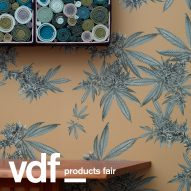 New York design studio Superflower's wallpaper collection includes cannabis pattern