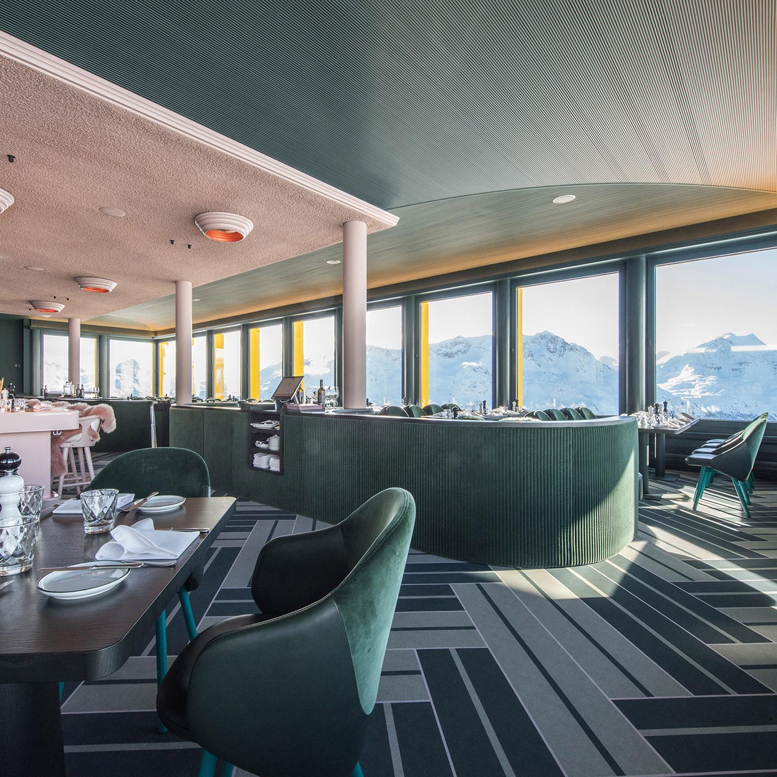 Forbo designs waterproof Flotex flooring for ski resort interiors