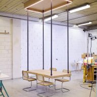 JCPCDR Architecture constructs Flying Table with seat belt-like mechanism