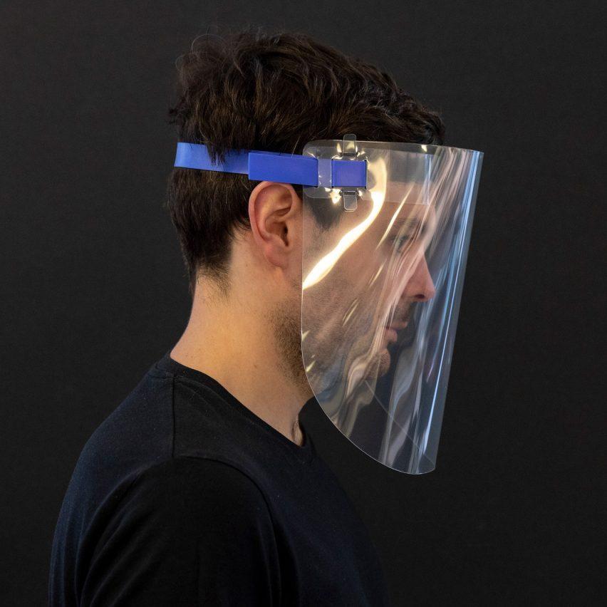 Foster + Partners designs reusable open-source face shield