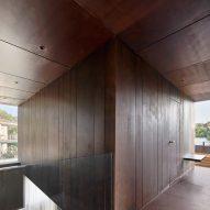 Gallery House by Raúl Sánchez Architects corten steel