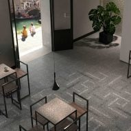 The Fine Lines terrazzo tile collection by Giovanni Barbieri