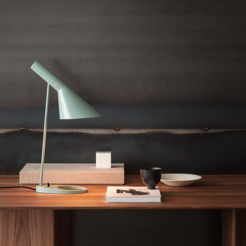 Home office furniture essentials: AJ Table Mini by Arne Jacobsen for Louis Poulsen