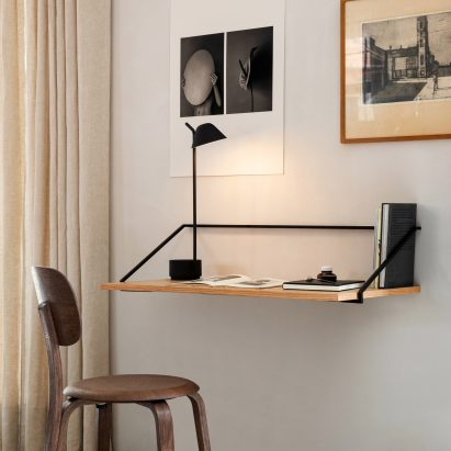 Home office furniture essentials: Rail Wall Desk by Keiji Ashizawa for Menu
